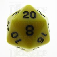 TDSO Opaque Yellow D20 Dice