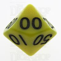 TDSO Opaque Yellow Percentile Dice