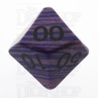 TDSO Turquoise Purple Wave Synthetic 16mm Precious Gem Percentile Dice