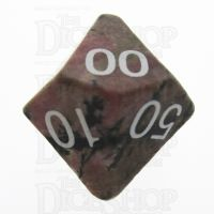 TDSO Rhodonite Black Lined 16mm Precious Gem Percentile Dice