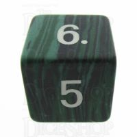 TDSO Turquoise Malachite Synthetic 16mm Precious Gem D6 Dice