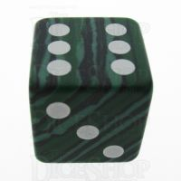 TDSO Turquoise Malachite Synthetic 16mm Precious Gem D6 Spot Dice