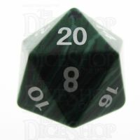 TDSO Turquoise Malachite Synthetic 16mm Precious Gem D20 Dice
