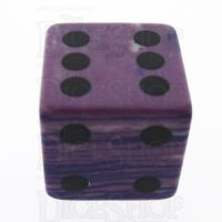 TDSO Turquoise Purple Wave Synthetic 16mm Precious Gem D6 Spot Dice