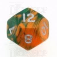 D&G Toxic Chemical Orange & Green D12 Dice