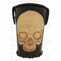 QD Skull Brown Leather Dice Cup