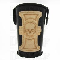 QD Inquisitor Black Leather Dice Cup