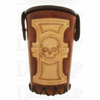 QD Inquisitor Tan Leather Dice Cup