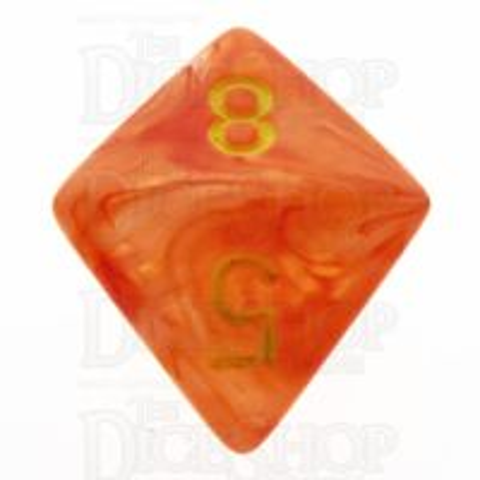 Chessex Ghostly Glow Orange D8 Dice