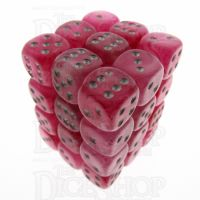Chessex Ghostly Glow Pink 36 x D6 Dice Set