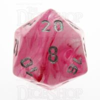 Chessex Ghostly Glow Pink D20 Dice