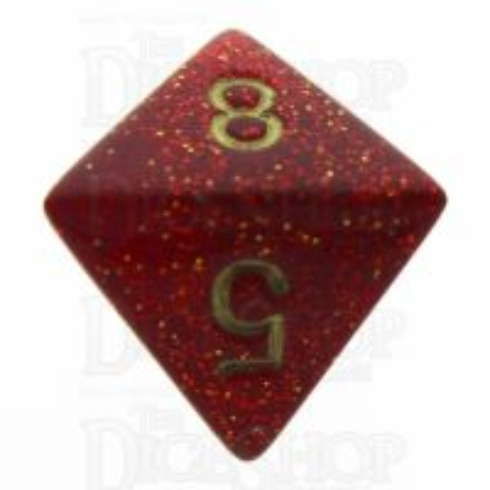 Chessex Glitter Ruby D8 Dice