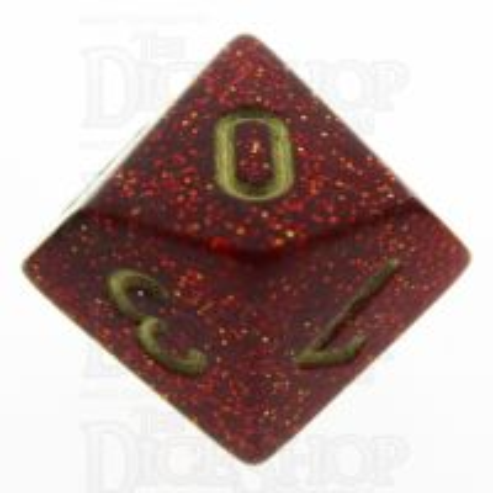 Chessex Glitter Ruby D10 Dice