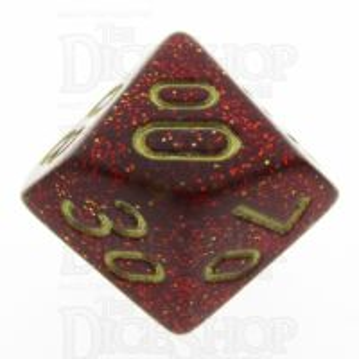 Chessex Glitter Ruby Percentile Dice