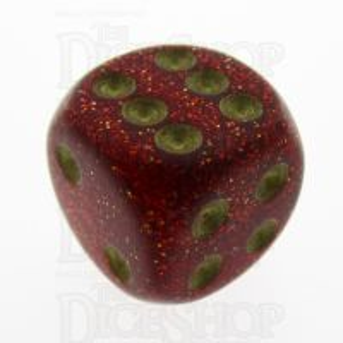 Chessex Glitter Ruby 16mm D6 Spot Dice