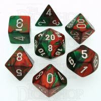 Chessex Gemini Green & Red 7 Dice Polyset