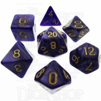 TDSO Pearl Purple & Gold 7 Dice Polyset