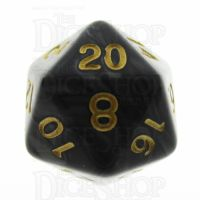 TDSO Pearl Black & Gold D20 Dice