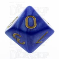 TDSO Pearl Blue & Gold D10 Dice
