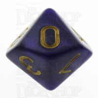 TDSO Pearl Purple & Gold D10 Dice