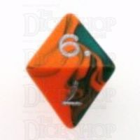 D&G Toxic Chemical Orange & Green D8 Dice