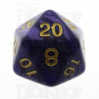 TDSO Pearl Purple & Gold D20 Dice