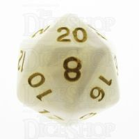 TDSO Pearl White & Gold D20 Dice