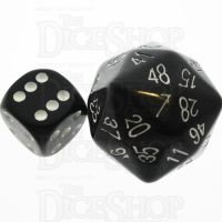 Tessellations Opaque Black & White D48 Dice