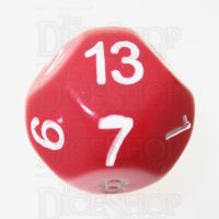 Impact Opaque Red & White D13 Dice