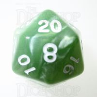 TDSO Pearl Pale Green & White D20 Dice