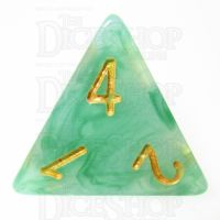 TDSO Jade Green & Gold D4 Dice