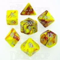 D&G Toxic Ooze Yellow & Red 7 Dice Polyset
