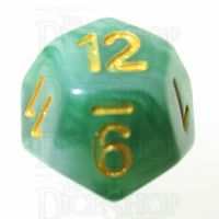 TDSO Jade Green & Gold D12 Dice