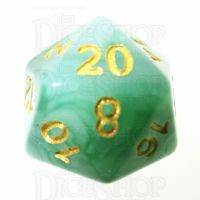 TDSO Jade Green & Gold D20 Dice