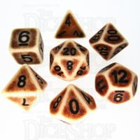 TDSO Opaque Antique Ivory 7 Dice Polyset