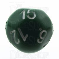 Impact Opaque Green & White D15 Dice