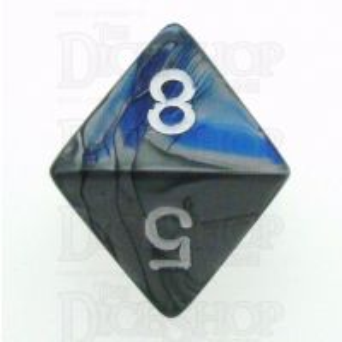 Chessex Gemini Blue & Steel D8 Dice