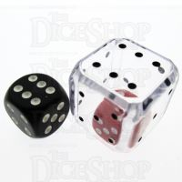 Koplow Clear Double 25mm D6 Spot Dice