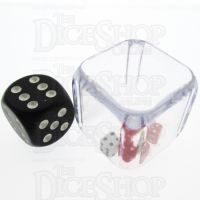 Koplow 3 in a Cube Red & White 25mm Dice
