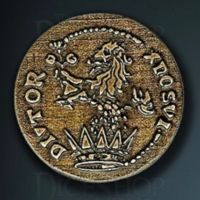Medieval Legendary Metal Gold Coin