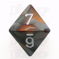 Chessex Gemini Copper & Steel D8 Dice