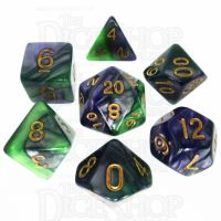 TDSO Duel Blue & Green 7 Dice Polyset