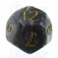 TDSO Duel Black & White D12 Dice