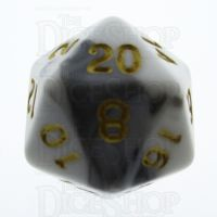 TDSO Duel Black & White D20 Dice