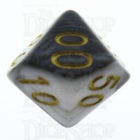 TDSO Duel Black & White Percentile Dice