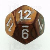 Chessex Gemini Copper & Steel D12 Dice