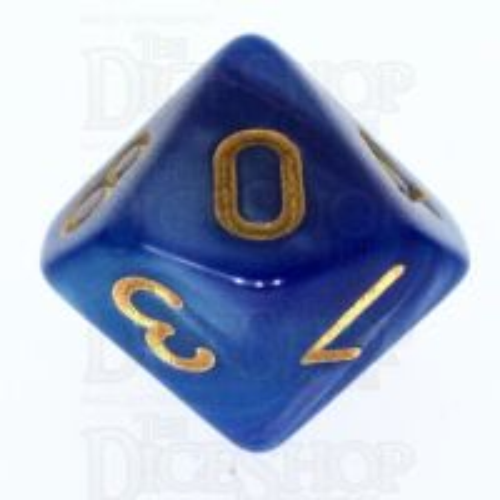 TDSO Duel Blue & Purple D10 Dice