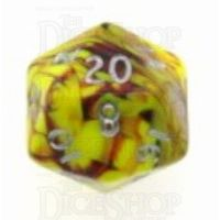 D&G Toxic Ooze Yellow & Red D20 Dice