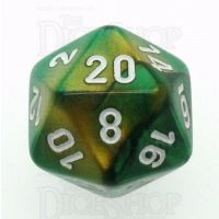 Chessex Gemini Gold & Green D20 Dice