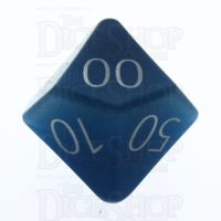 TDSO Cats Eye Aquamarine with Engraved Numbers 16mm Precious Gem Percentile Dice